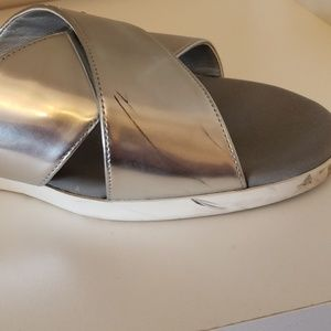Cole Haan Shoes - Cole Haan Augusta Silver Slide size 8